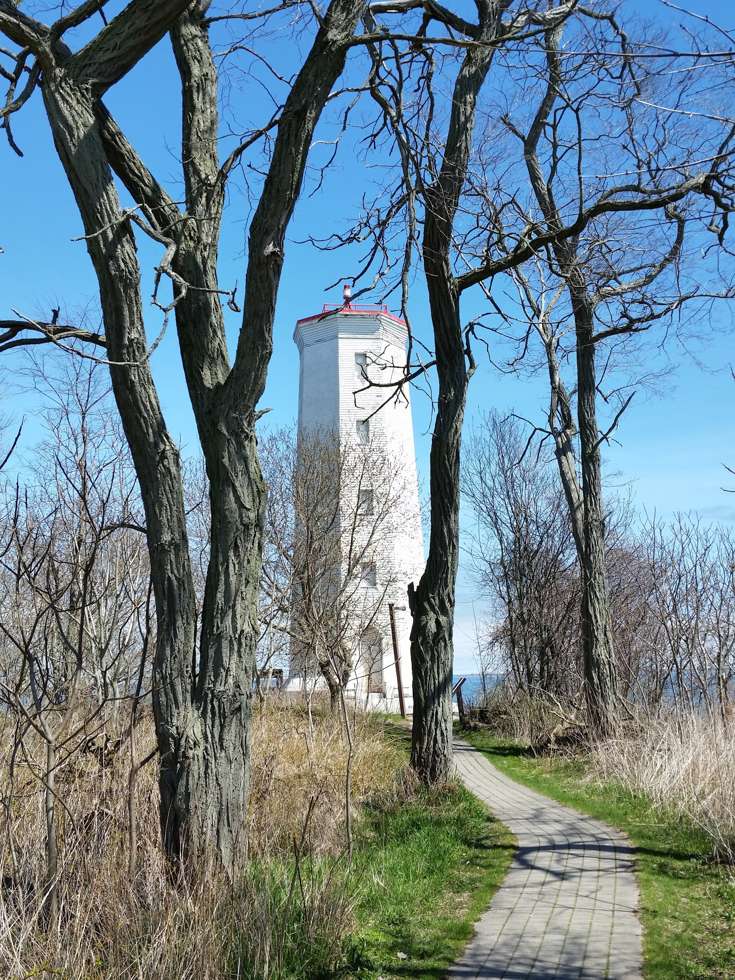 The historic Presqu'ile lighthouse.