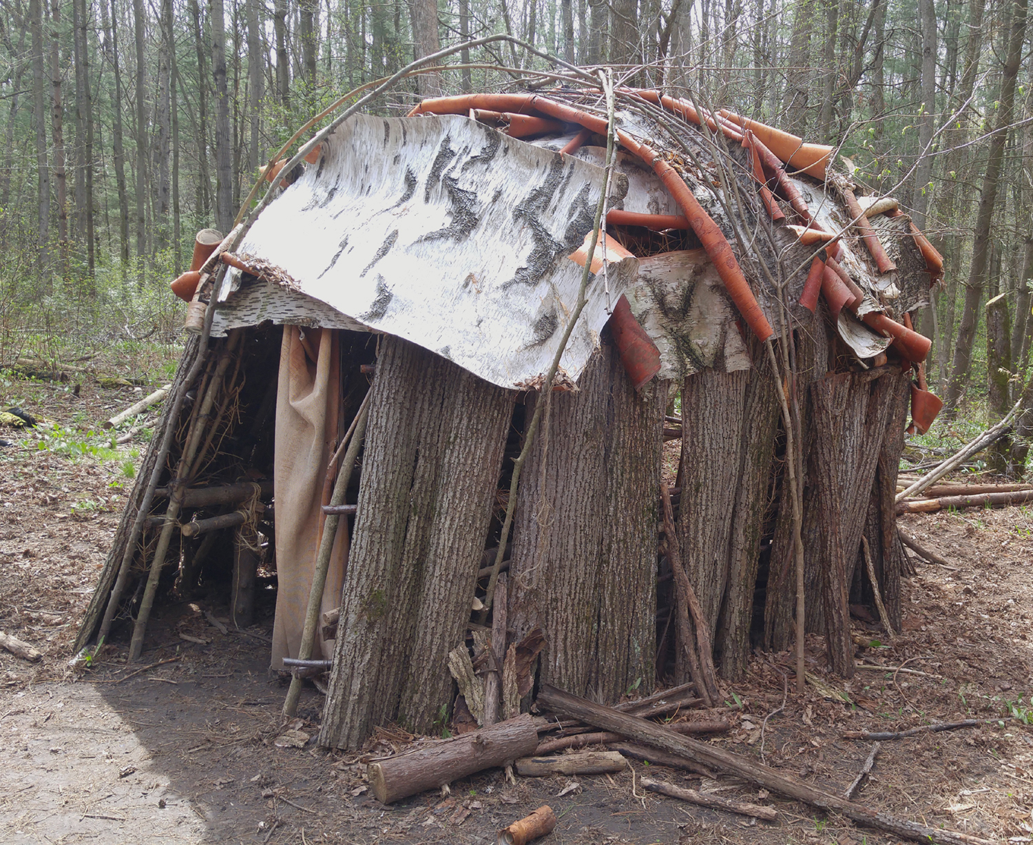 A wigwam. made by Port Hope high school students.