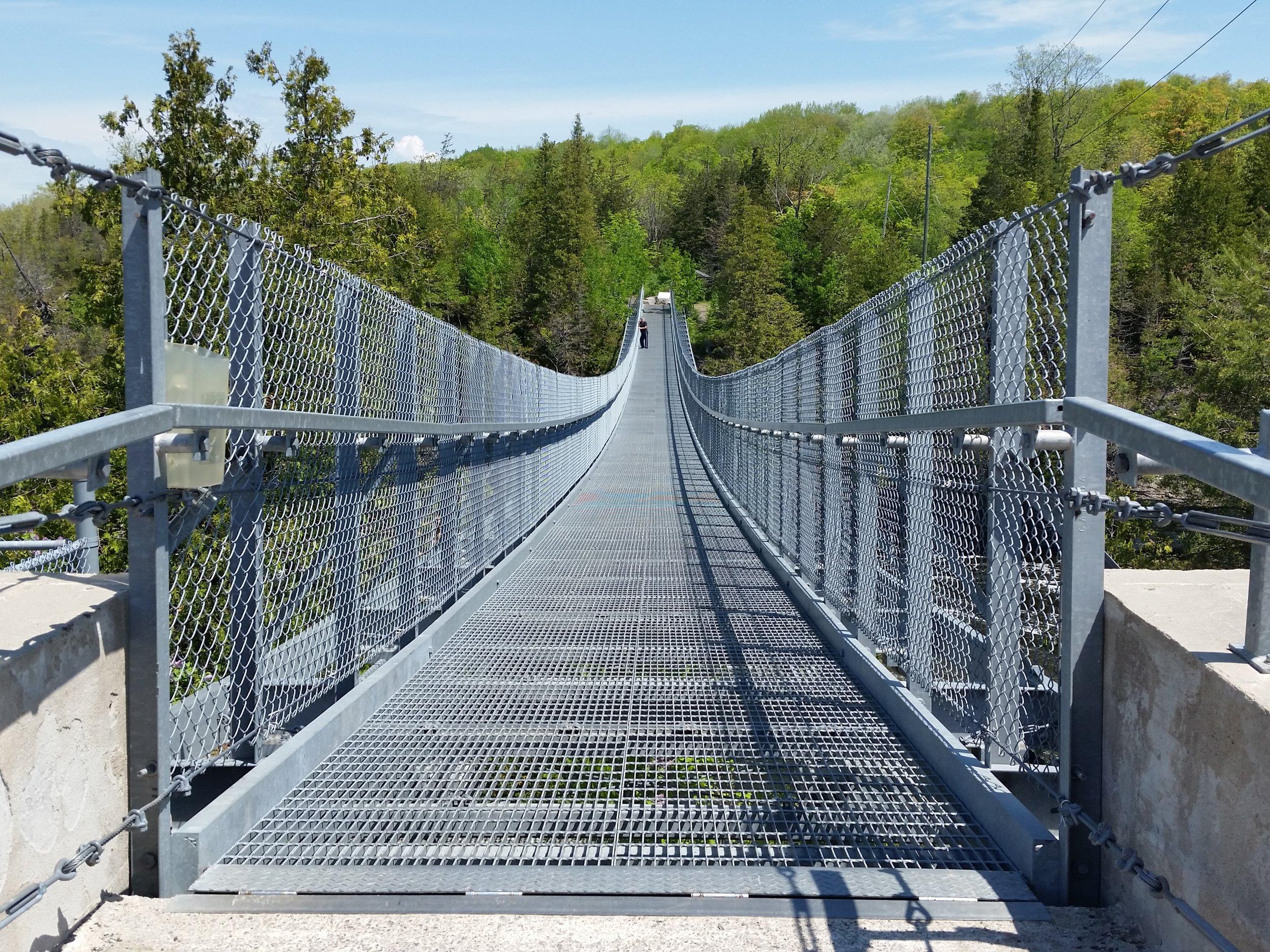 The Ranney Gorge Suspension Bridge