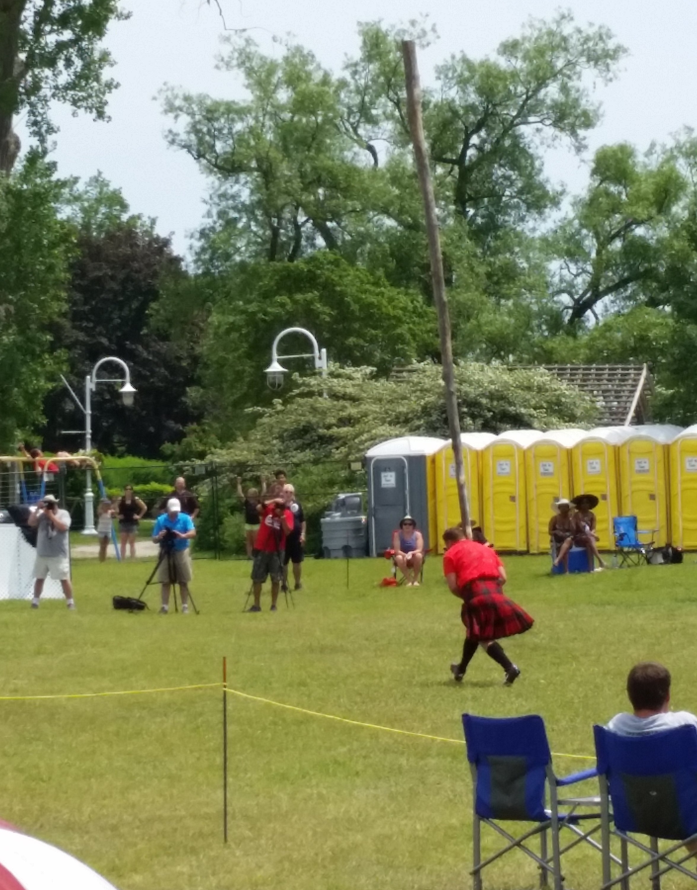 The caber toss competition.