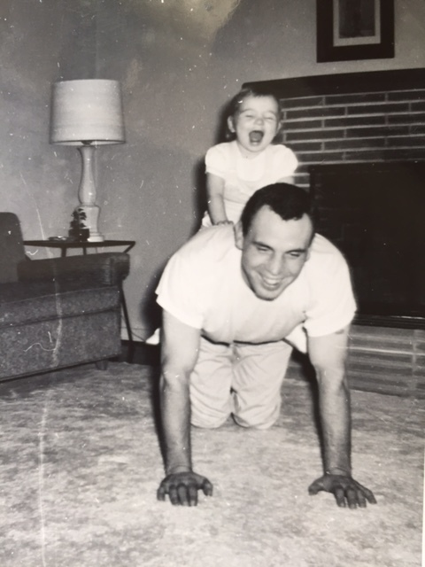 Me and Dad having fun.