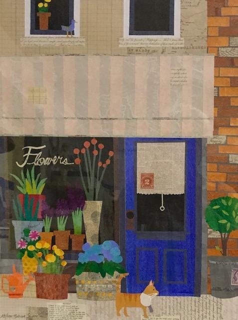 Flower Shop15 x 19  cut paper