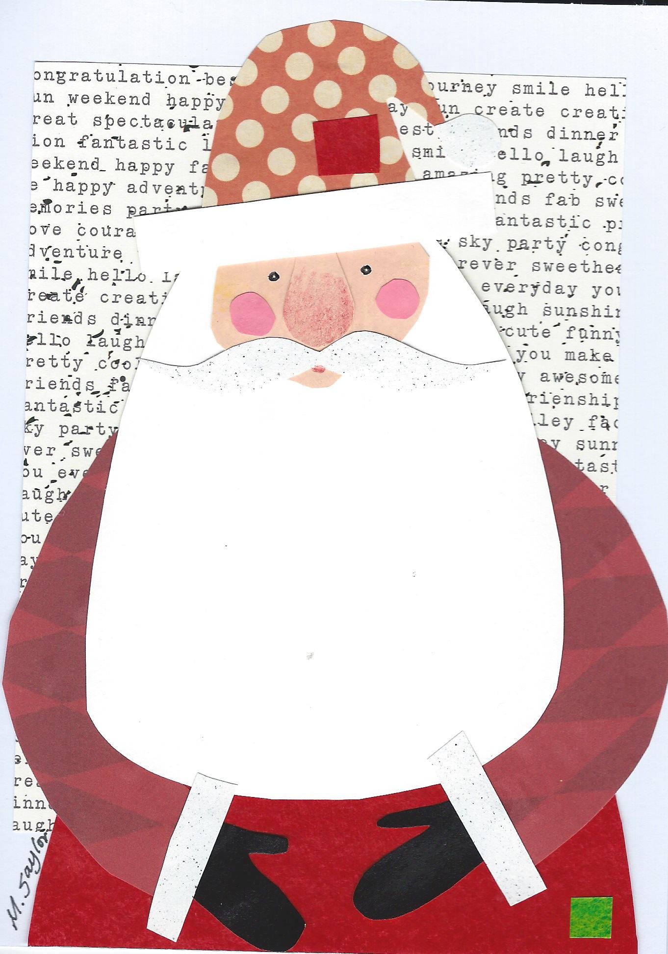 Santa cutpaper 5x7  Melissa Babcock Saylor