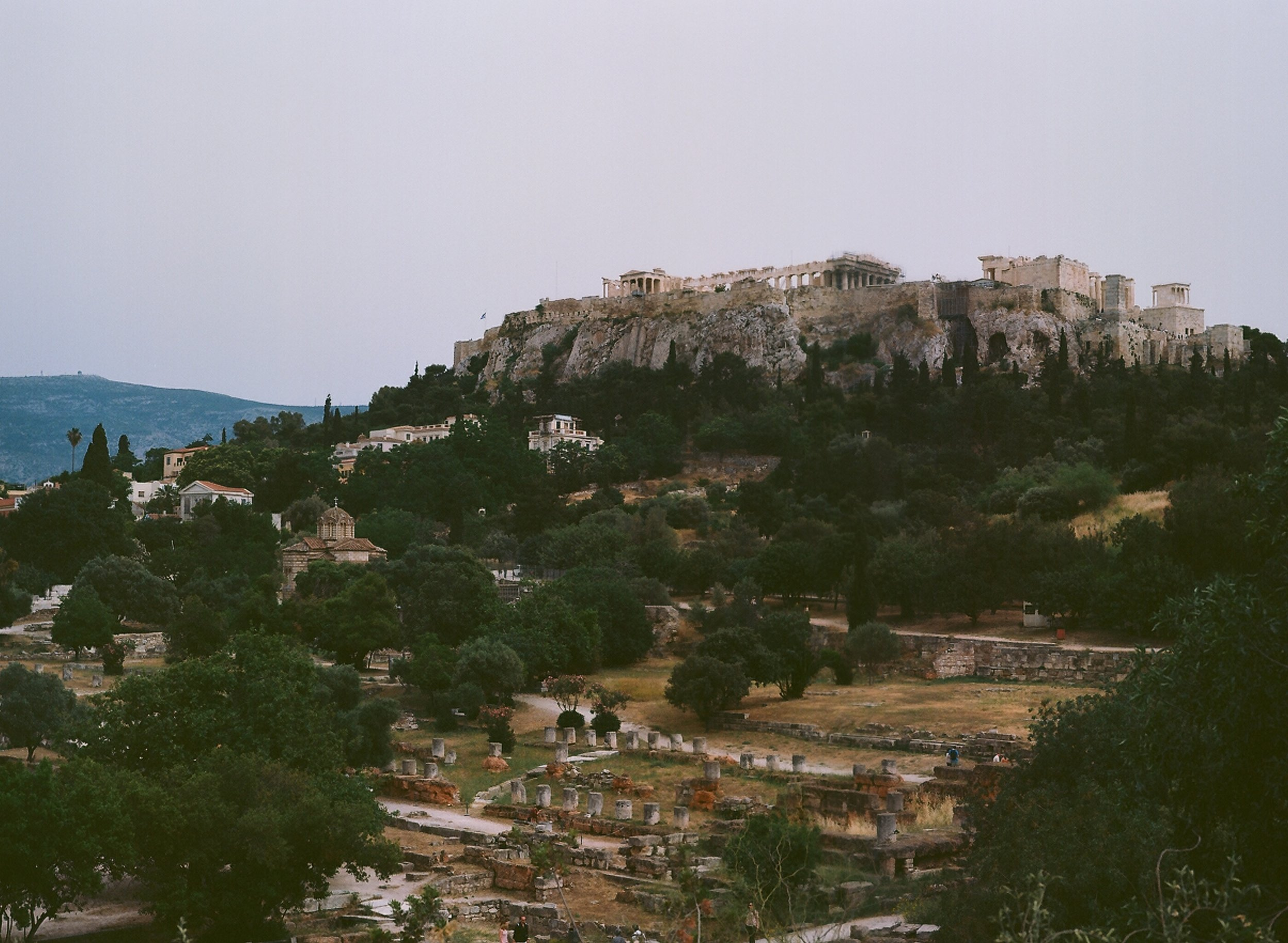 The Athenian Agora and the idea of Western civilization encapsulated on a rock.