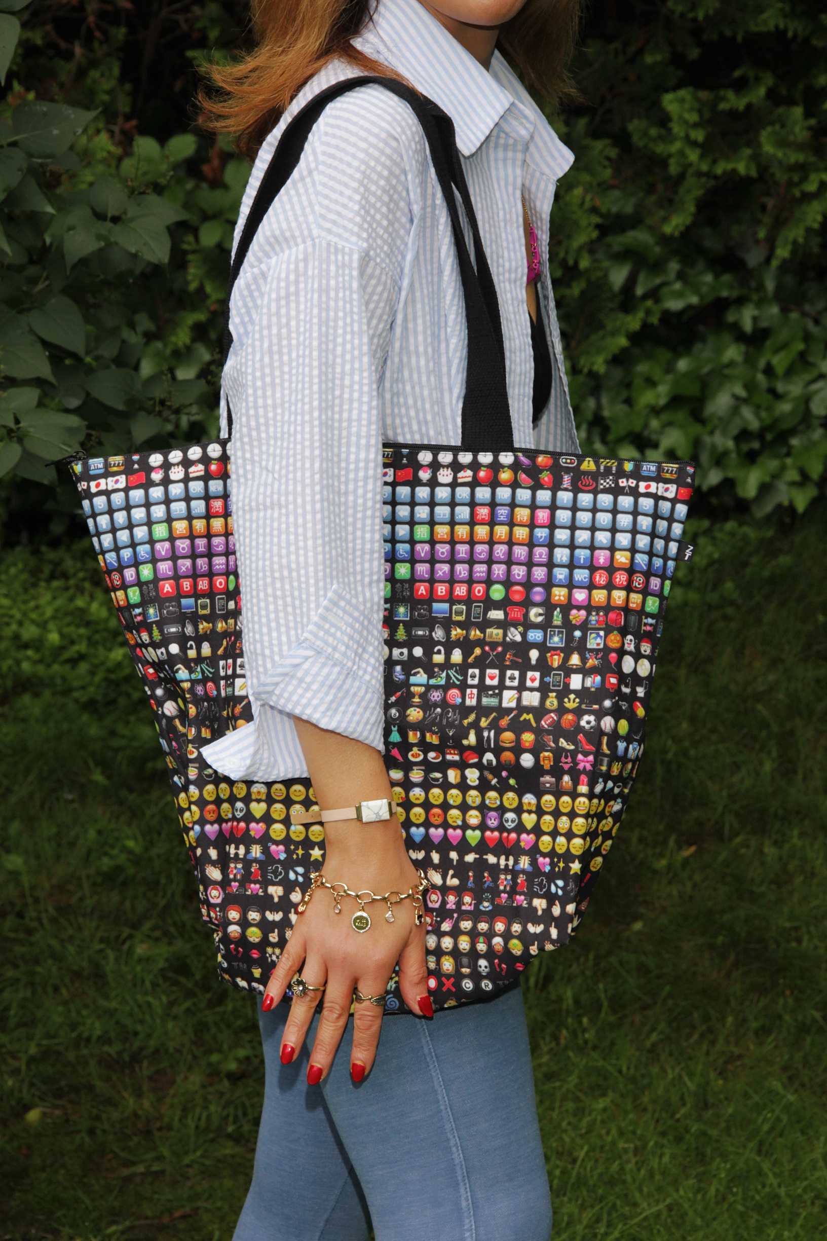 My shirt inspired me to purchase this Zara bag from  Thredup  !