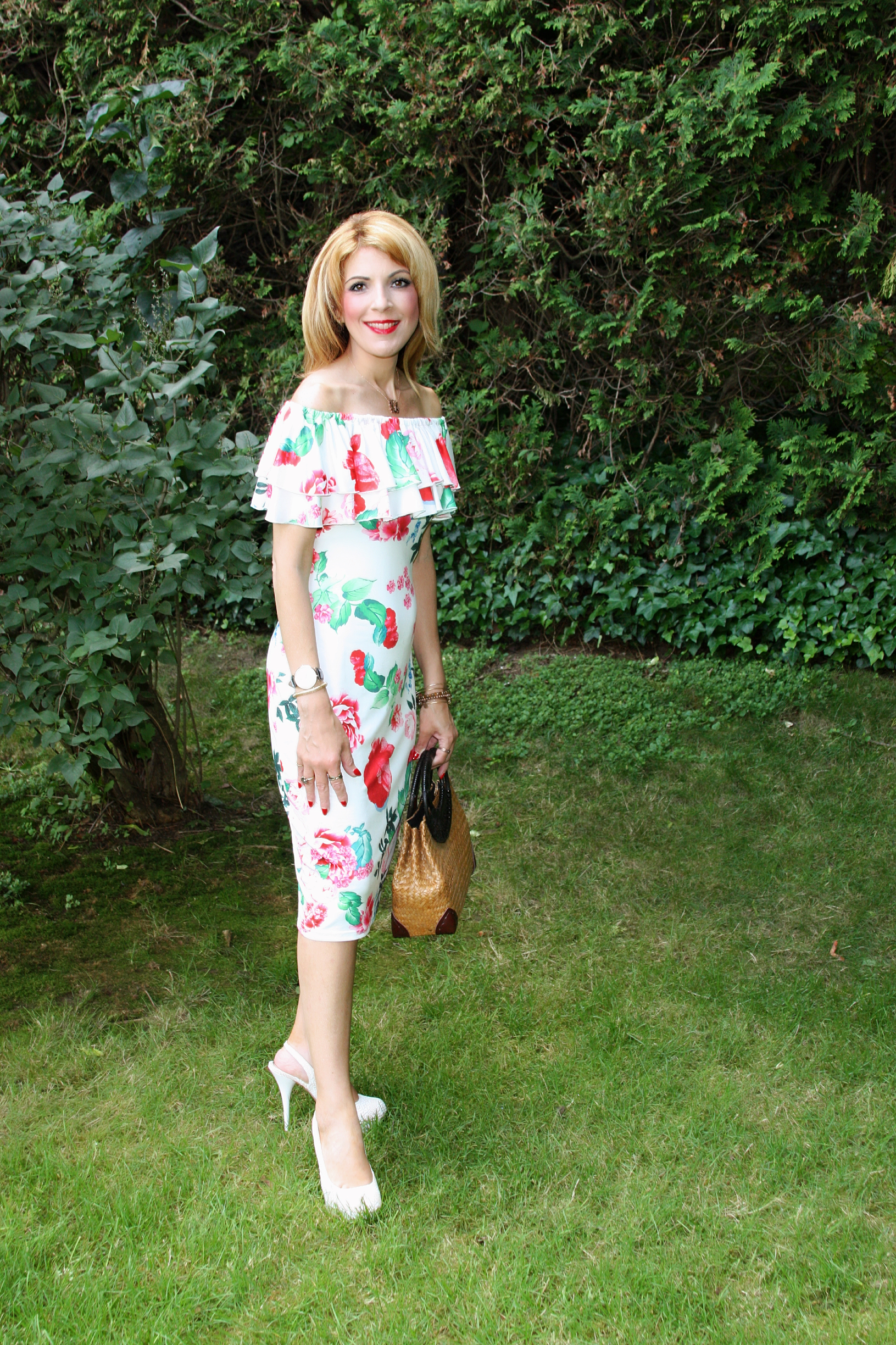 Find the Floral Bodycon Dress  here .