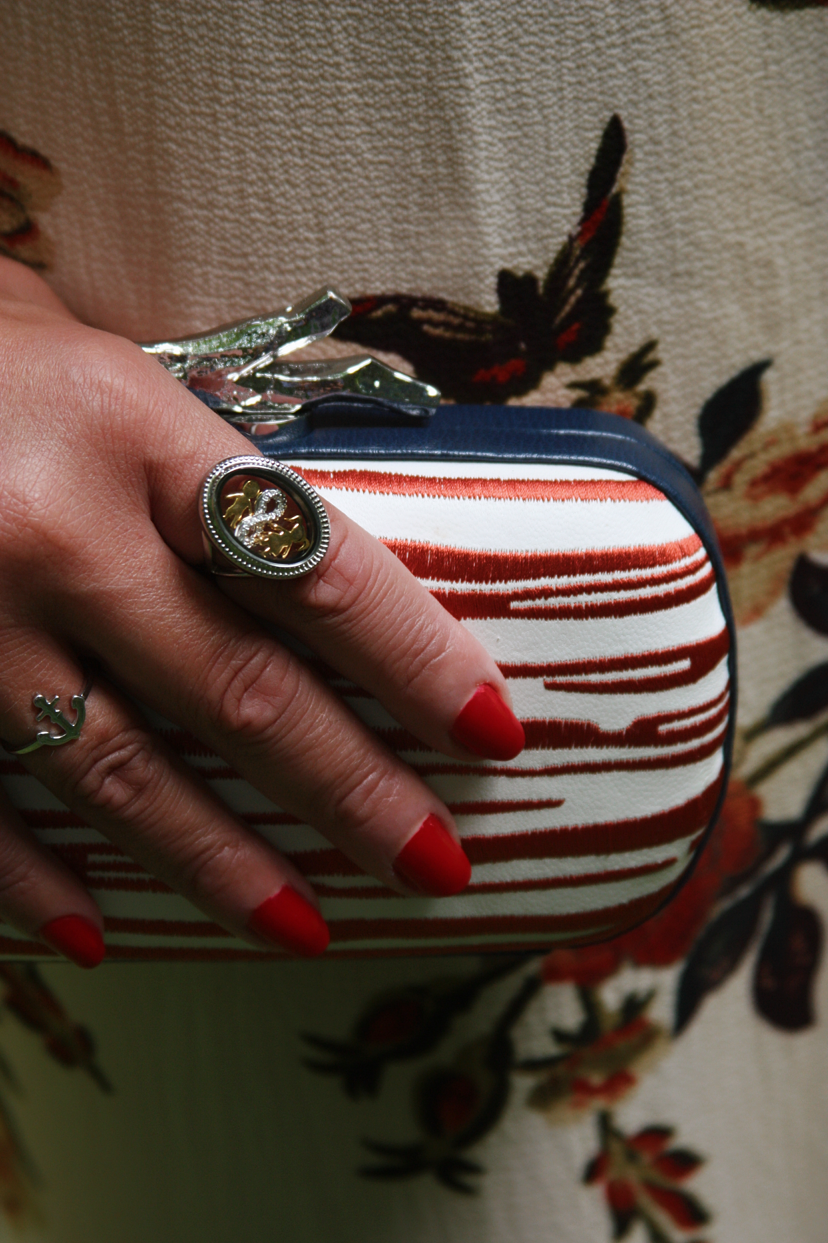 My clutch is an actual Diane Von Furstenberg which had a retail price of over $250.00 but I found it at  Thredup  for $50! My ring is from  Lockets   By   Kim  and I will be sharing all there is to know about it on my next blog post!