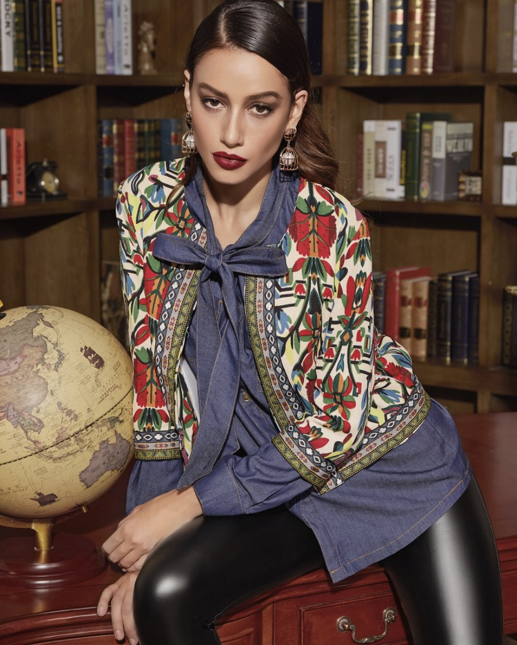Find the  Tribal   Print   Embroidered   Tapestry   Jacket  and so much more  here .