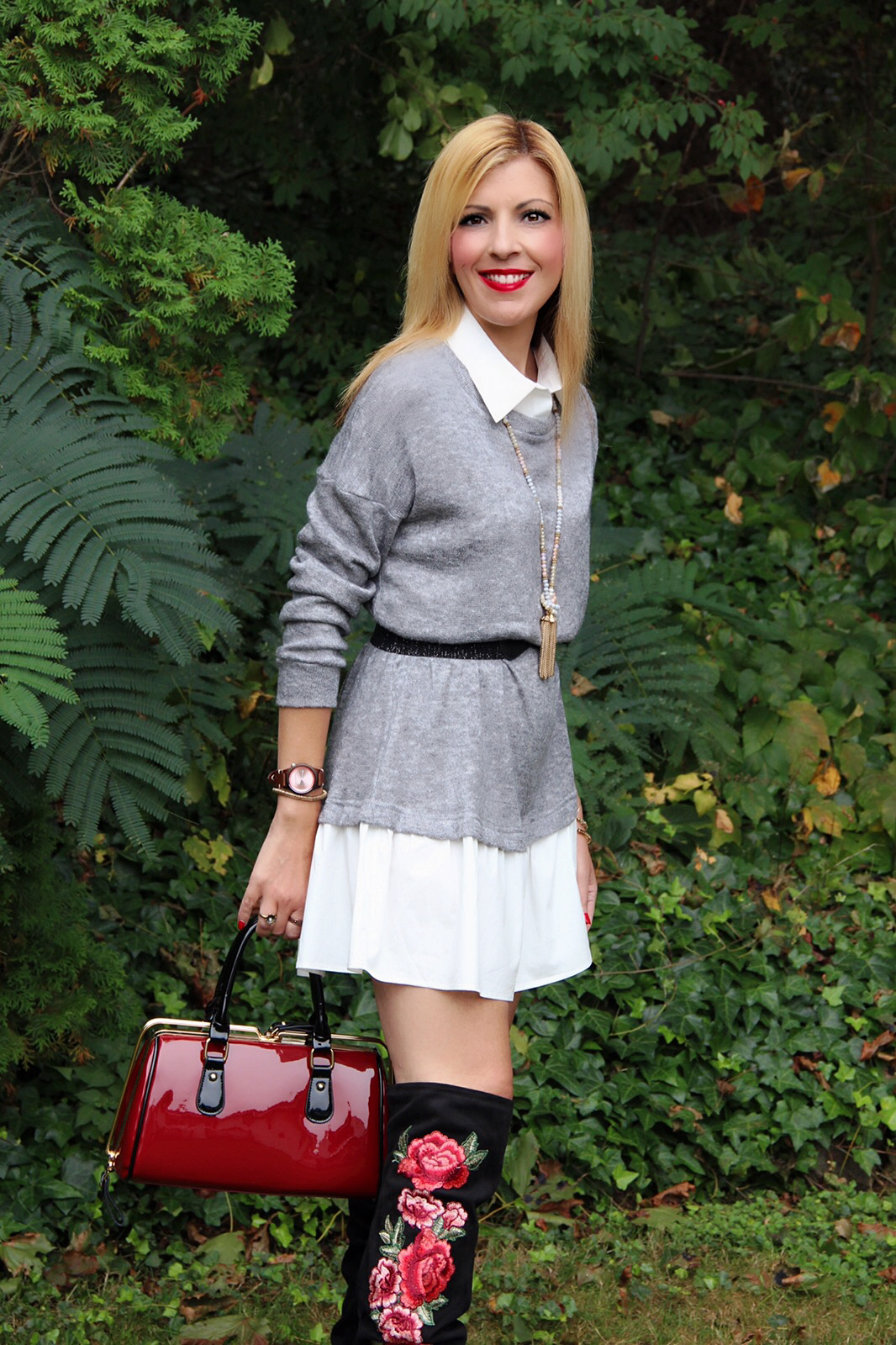 """My bag is from Mad Style and you can find it  here . You might remember it because I blogged about it several times before. I use it often as my everyday bag. My watch is another favorite and often blogged about piece called """"Crush"""" and you can find it  here ."""
