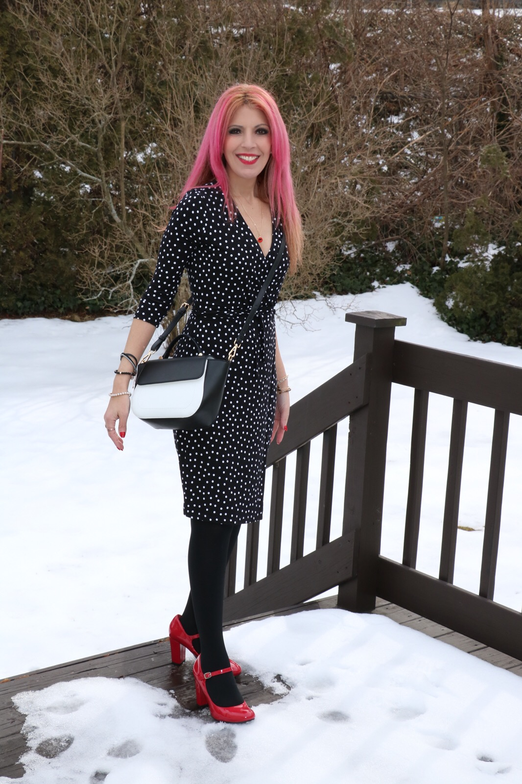 Find this adorable yet career appropriate 'Polka-Dot Wrap Dress'  here .