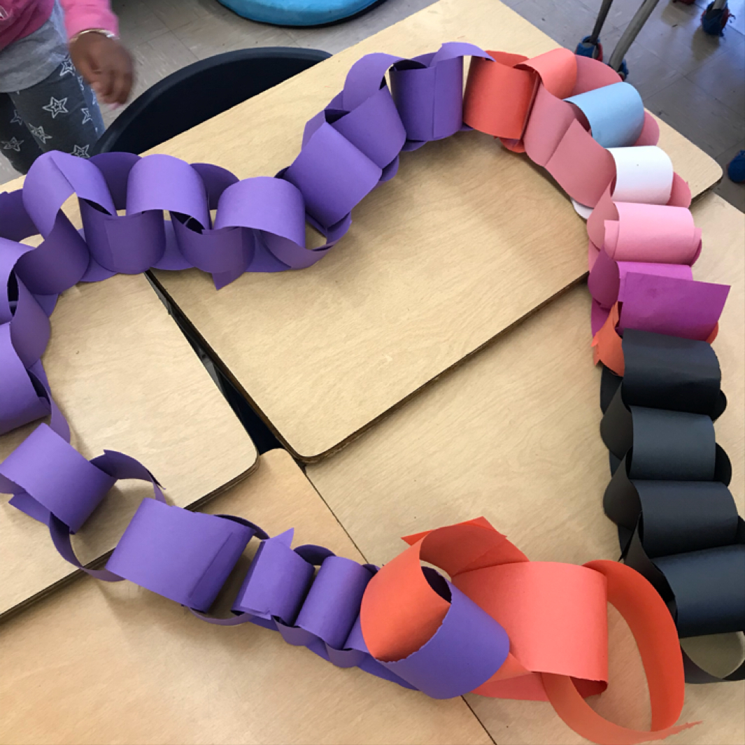 Although my students knew they had to build the 'longest' paper chain, they had fun being creative during the challenge.