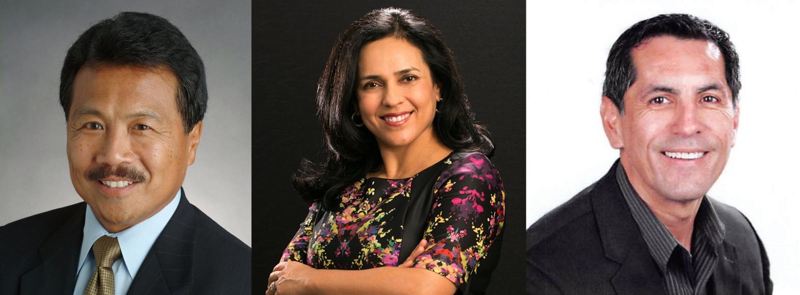 Noche de Gala 2019 honorees: Bill Tamayo, Beatriz Mejia, and Sergio Garcia