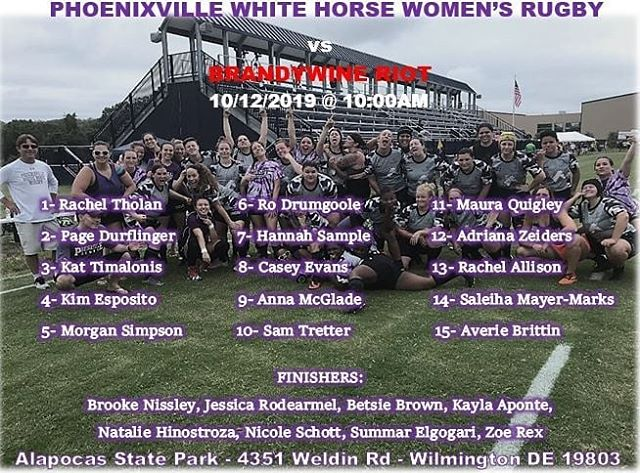 Saturday's a RUGBY DAY! Phoenixville White Horse Women have a league match today against Brandywine at 10am at 4351 Weldin Road in Wilmington, DE. Our second side kicks off at 12:30pm at 855 South New Street in West Chester. Come cheer on your unicorns! #saturdaysarugbyday #Phoenixville #rugby #horsepower #whitehorse #whitehorsewomen #whitehorsewomensrugby #westchester #brandywine #wilmington #15as1 #50somethingas1