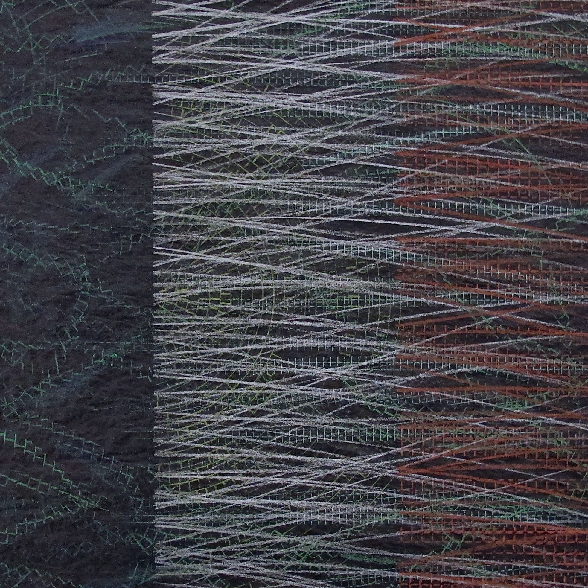 "Appears at Dusk  , 2016 Ink & Prismacolor on Vellum 8"" x 8"""