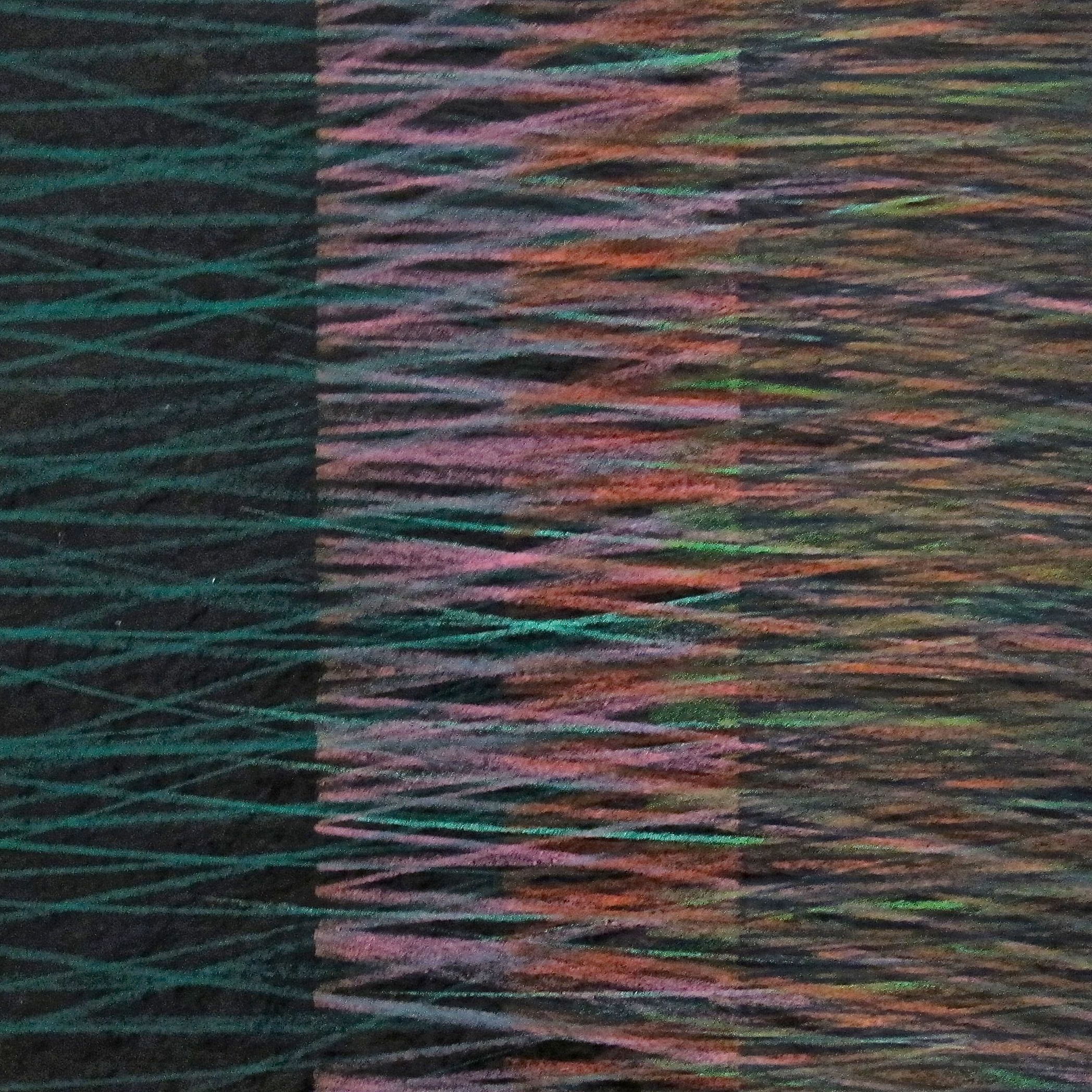 "Sonorus II  , 2016 Ink & Prismacolor on Vellum 7.5"" x 7.5"""