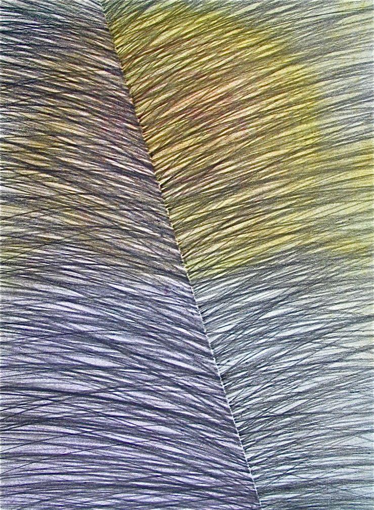 "Parting Ways ,  2014 Graphite & Oil Pastel on Paper 12"" x 19"""