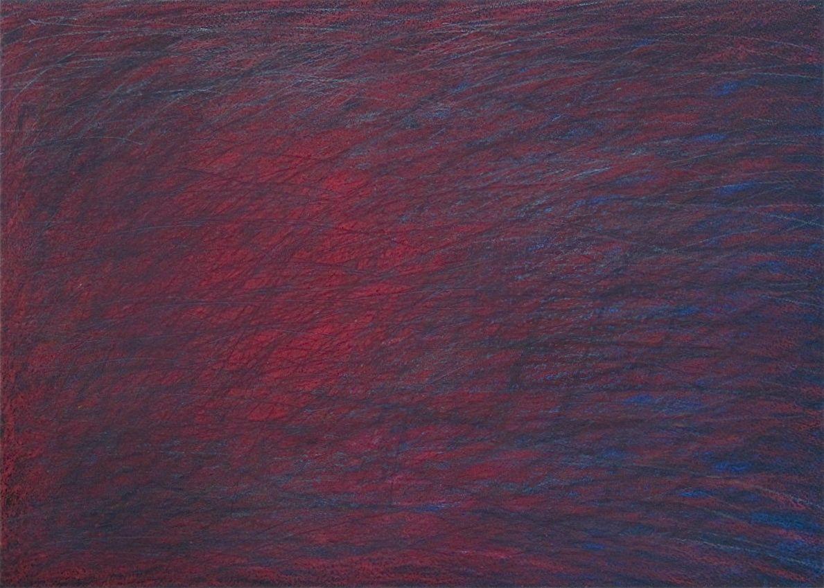 """Wait Until June  , 2014 Graphite & Oil Pastel on Paper 19"""" x 12"""""""