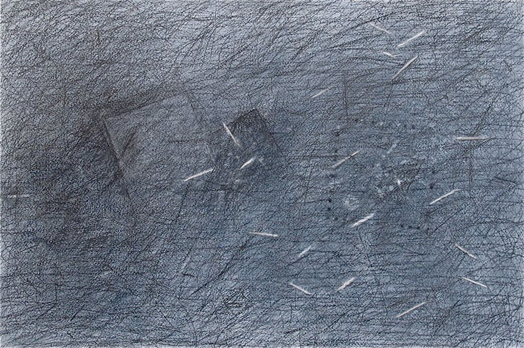"""Everything Just Went  , 2014 Graphite on Paper 19"""" x 12"""""""