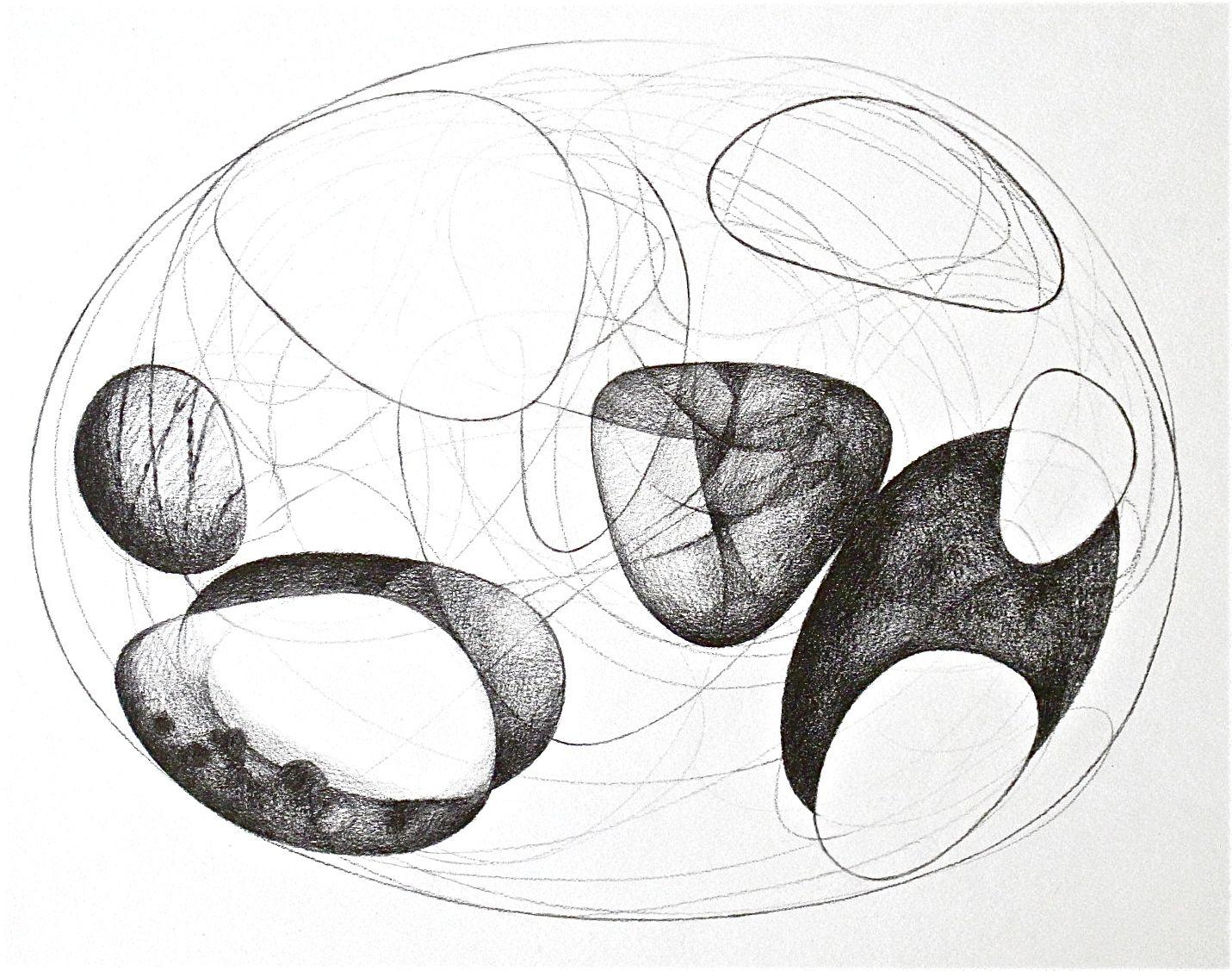 "Reunion V  , 2012 Graphite on Paper 16"" x 12"""