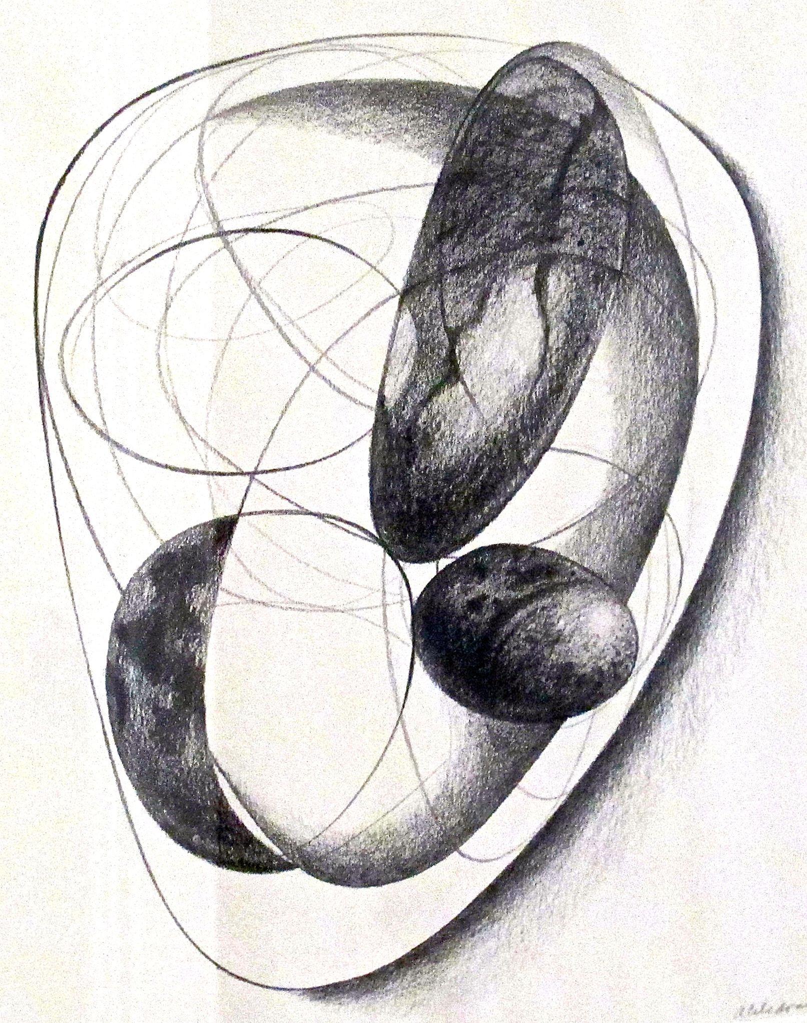 "Reunion I  , 2012 Graphite on Paper 11"" x 14"""