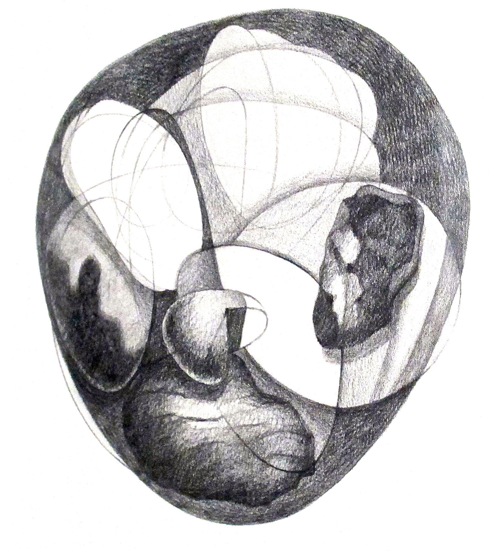 "Reunion II  , 2012 Graphite on Paper 11"" x 14"""
