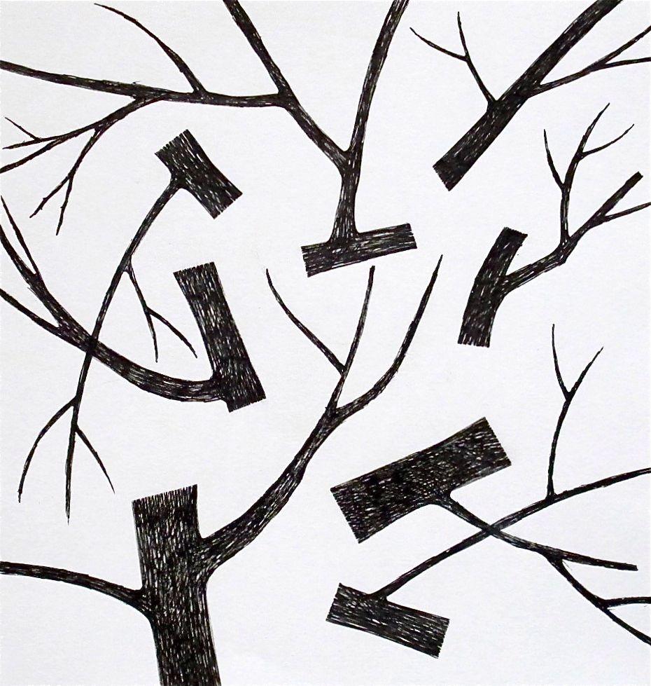 "Hate When That Happens  , 2011 Prismacolor on Paper 8"" x 8.5"""