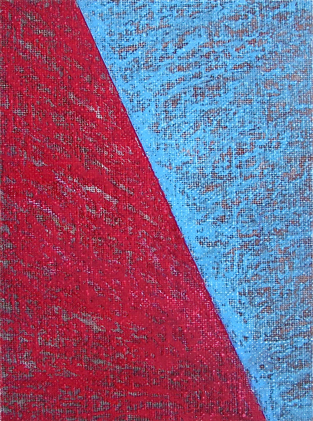 """Easier Going Down  , 2015 Acrylic on Canvas 5"""" x 8"""""""