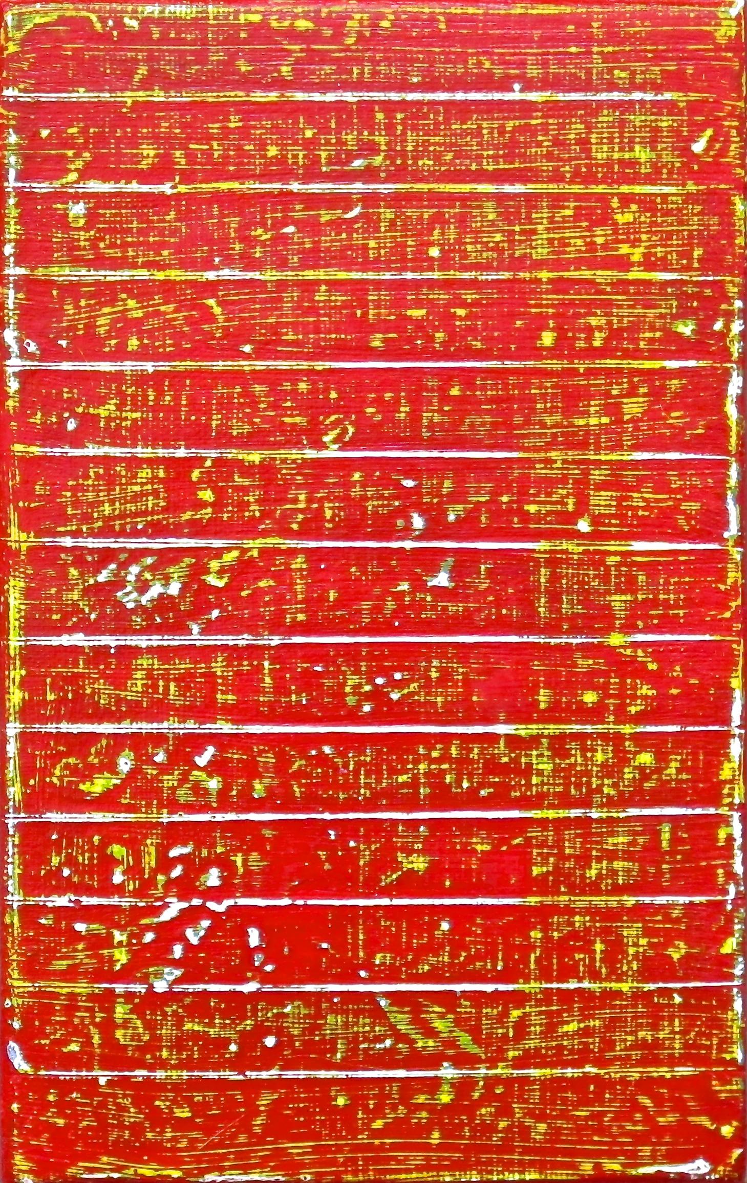 """Hell of a Climb  , 2015 Acrylic on Canvas 5"""" x 8"""""""