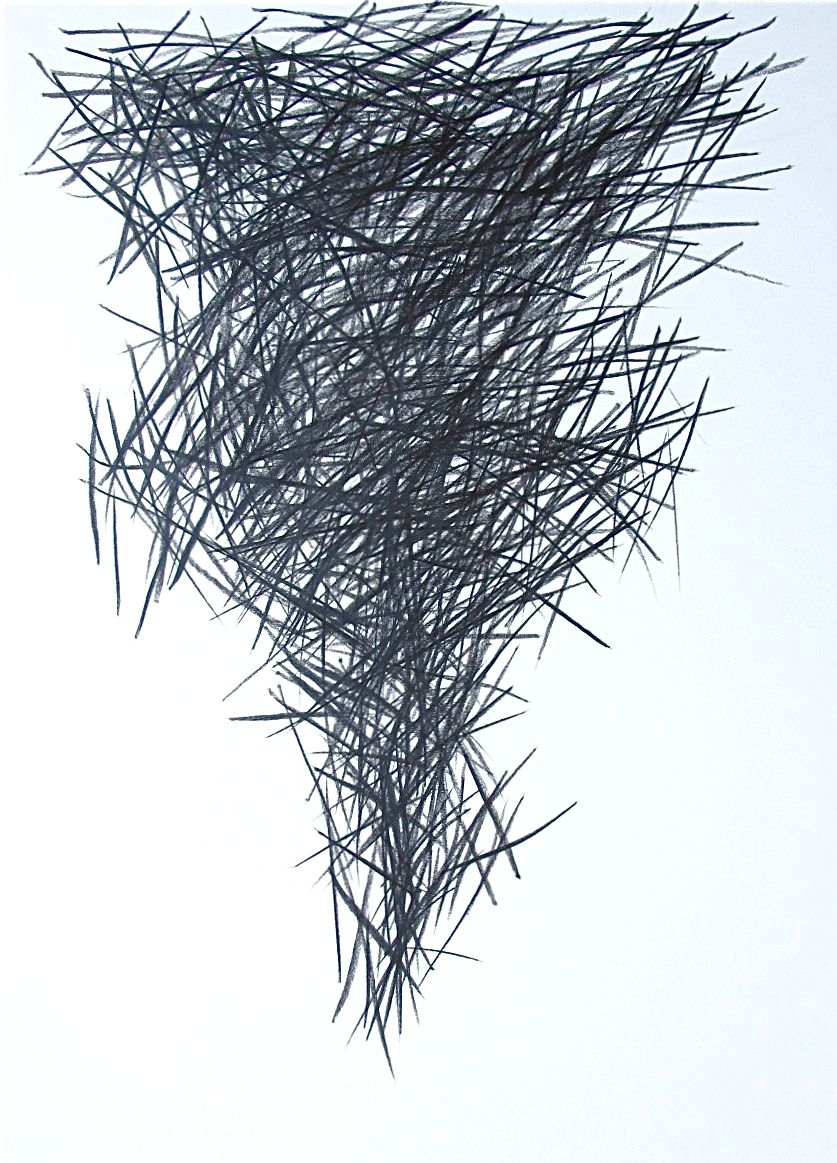 "Strikes Stacking  , 2014 Graphite on Paper 22"" x 30"""