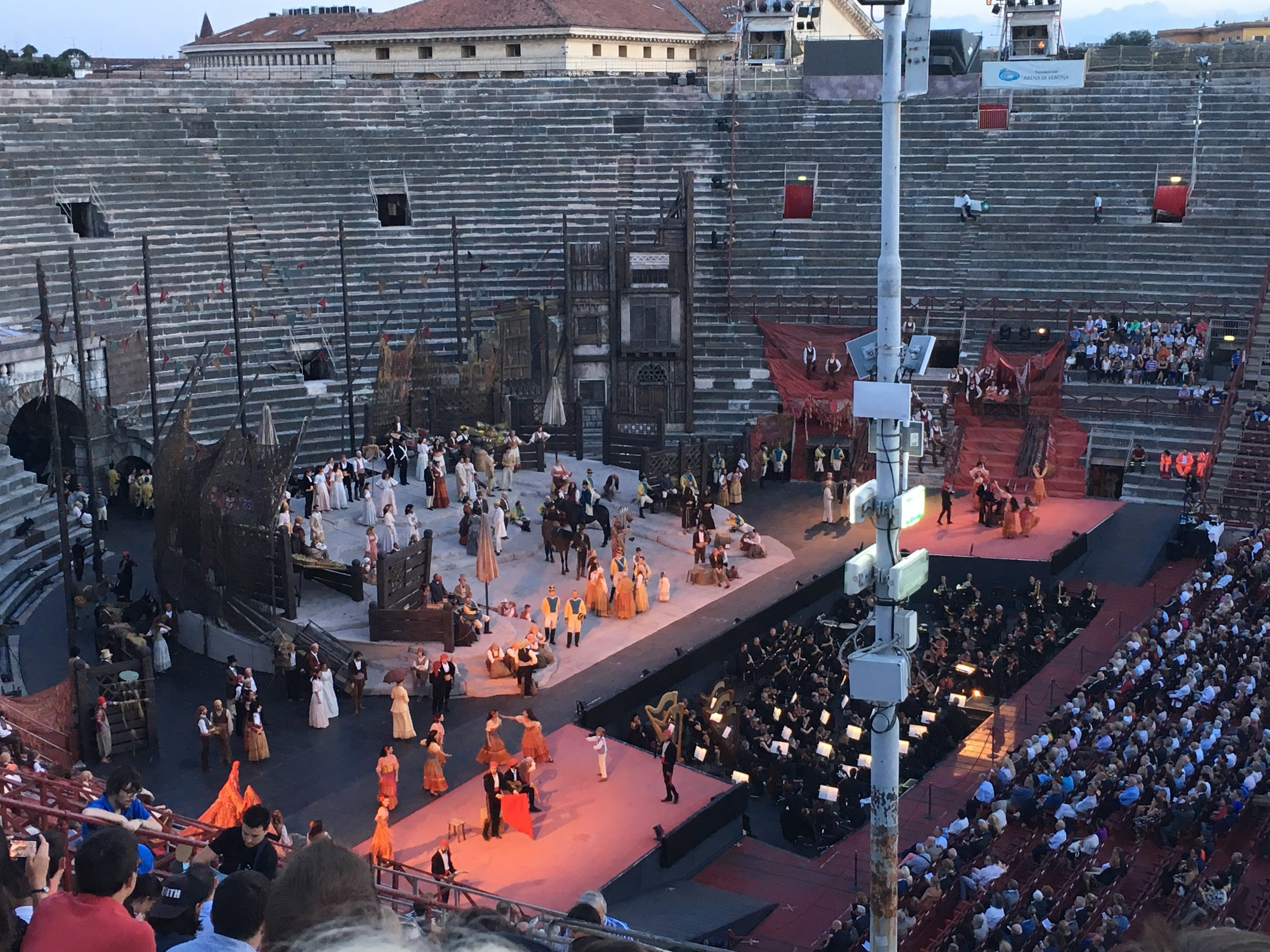 A production of Carmen in the Arena