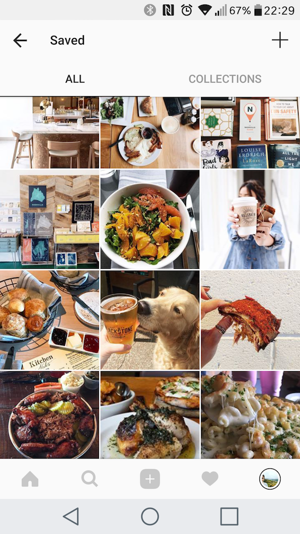 Travel planning on Instagram using the Collections feature