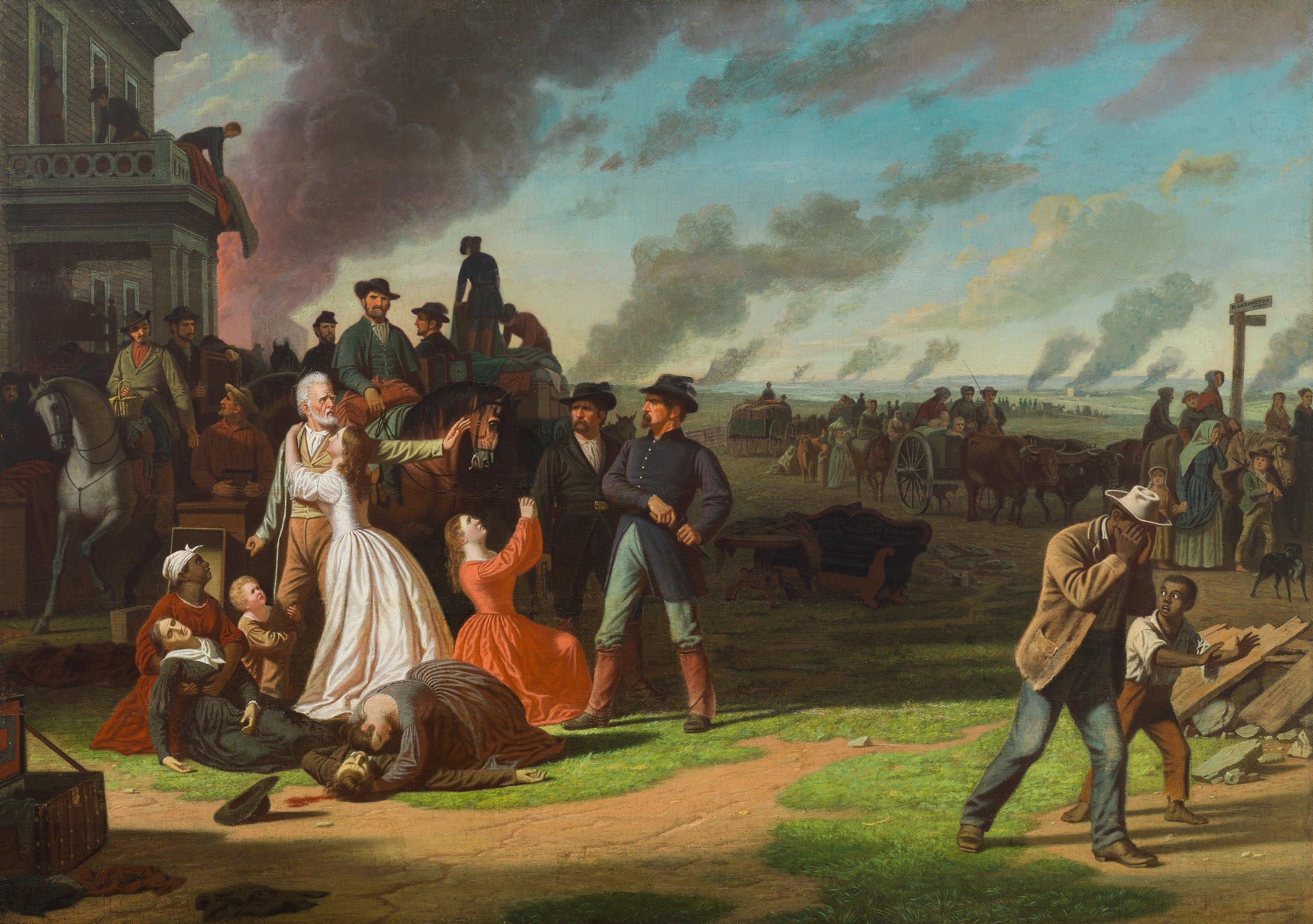 George Caleb Bingham (American, 1811-1879)  Order No. 11,  1865-1870 (Cincinnati Art Museum, Cincinnati, OH) (The Edwin and Virginia Irwin Memorial, 1958.515)  (click to enlarge)