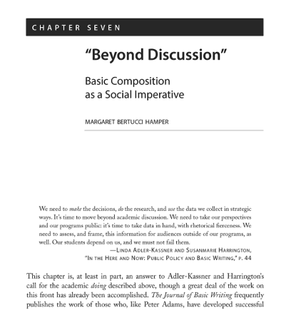 Beyond Discussion