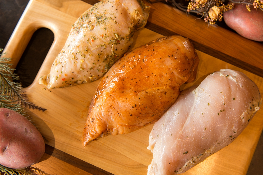 Marinated Chicken Breast makes dinner time simple and easy, not to mention hormone free.