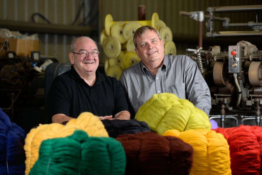 Owners John Laverty and Allan Carr in the factory.