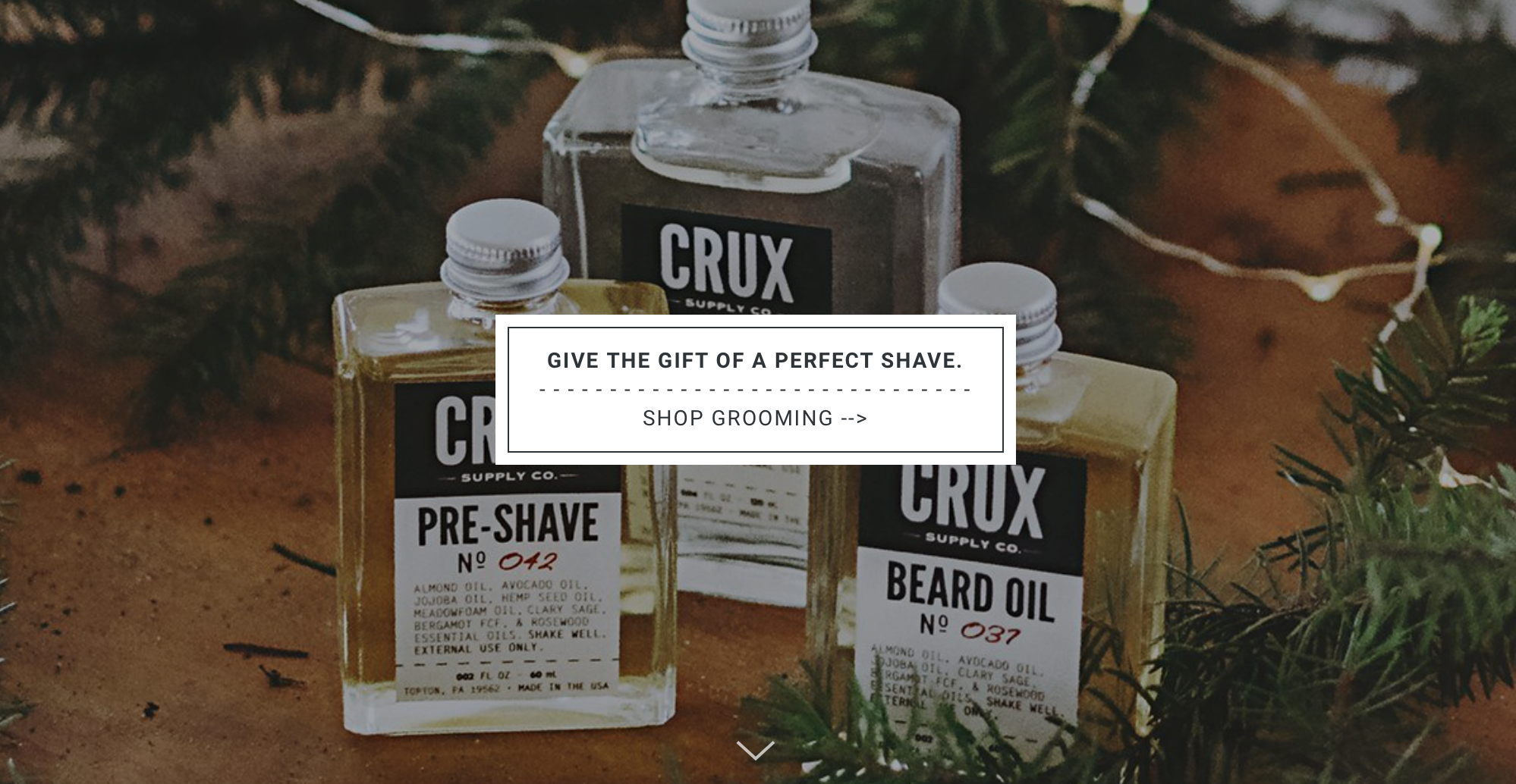 CRUX MEN'S SKINCARE LINE AT FOUR WINDS NATURAL