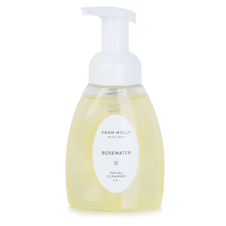 FROM MOLLY WITH LOVE  - Rosewater Foam Facial Cleanser  $10 - $28