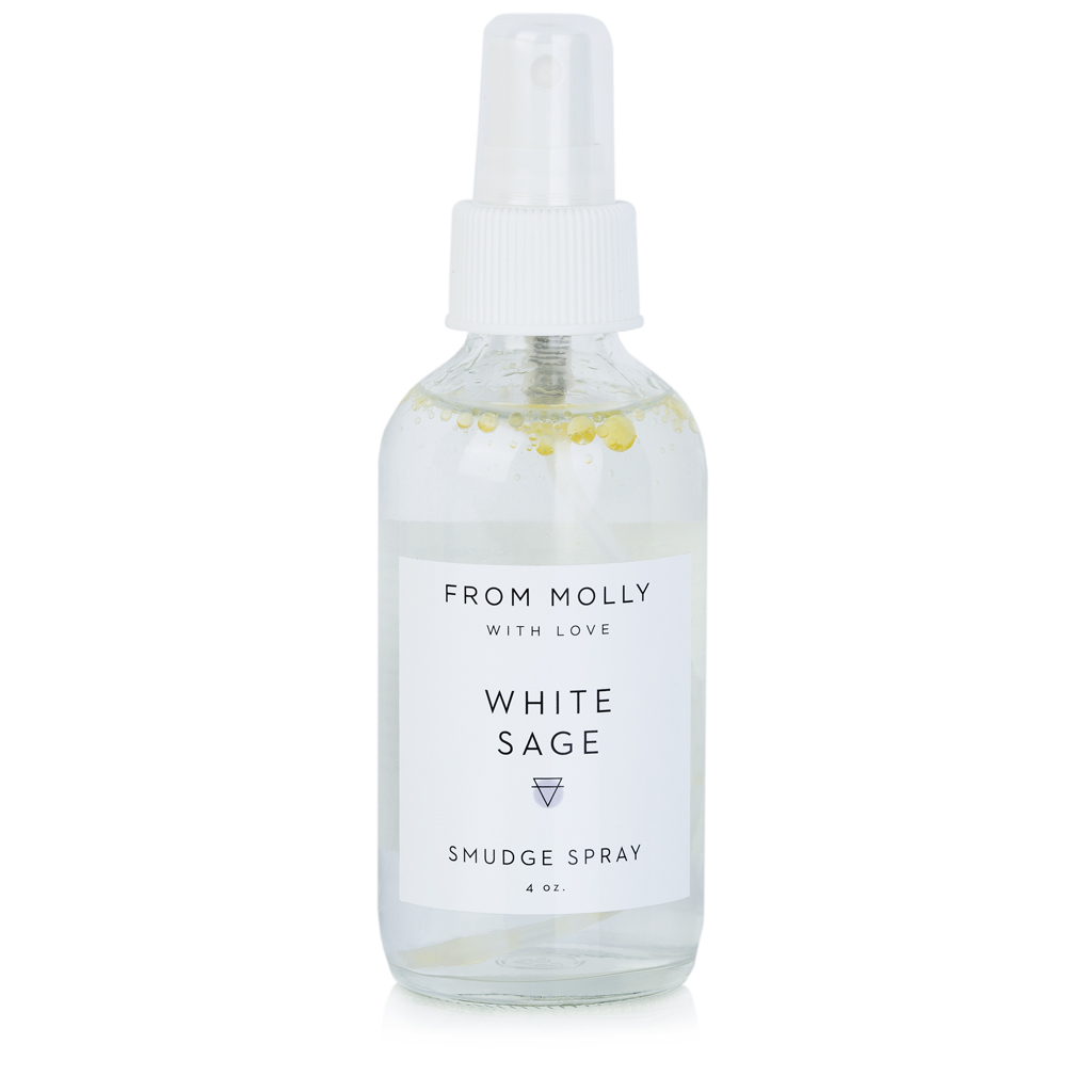 FROM MOLLY WITH LOVE  - WHITE SAGE SMUDGE SPRAY  $18
