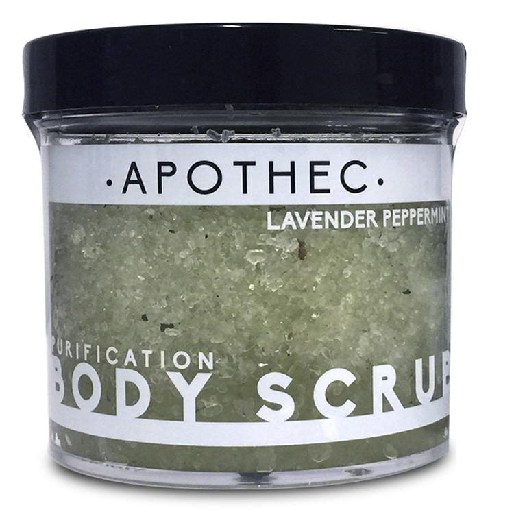 APOTHEC  - LAVENDER + PEPPERMINT BODY SCRUB  $34