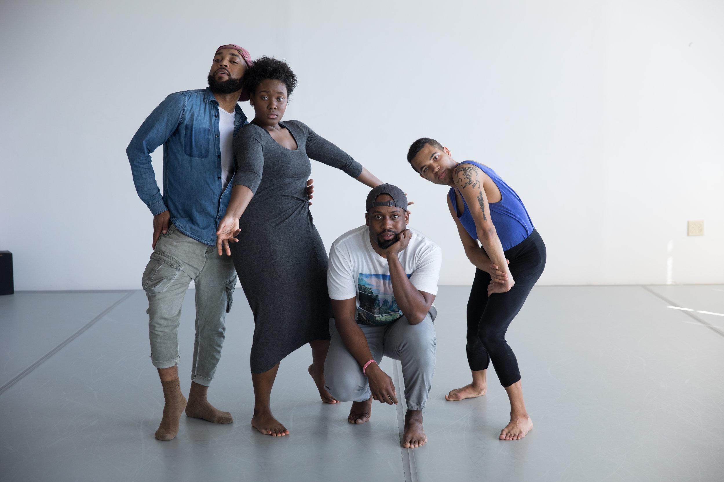 Zachary Orr, Lyrric Cosby-Jackson, Okwae A. Miller & Ben Stevenson, photo by Jamie Hopper