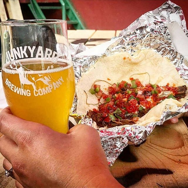 We know rain isn't the summer weather you all are looking forward to. BUT. We have the perfect thing to numb your pain! Come enjoy Pico OPENING DAY in the warmth of @junkyardbrewing ! 🥳🌧🌮🍻 We will be there slinging tacos from 4-9 (weather permitting). Can't make it today?  You're in luck! We will be at Junkyard AGAIN tomorrow night from 4-9!! 💙💚💛 #pico2019 #tacosandbeer