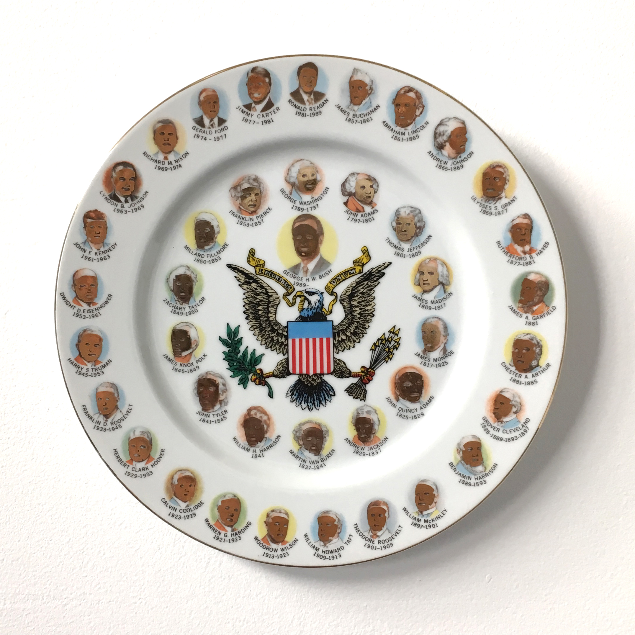 U.S. Presidents wearing Asian Beauty Masks