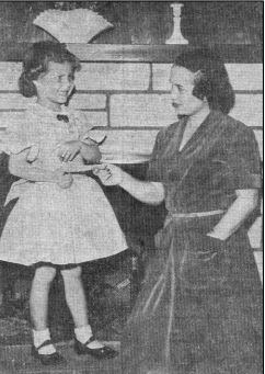 1958: 10 yr old Carla Norlie wins $5 for her winning name entry of Caper Acres. Carla and her family still live in Chico!