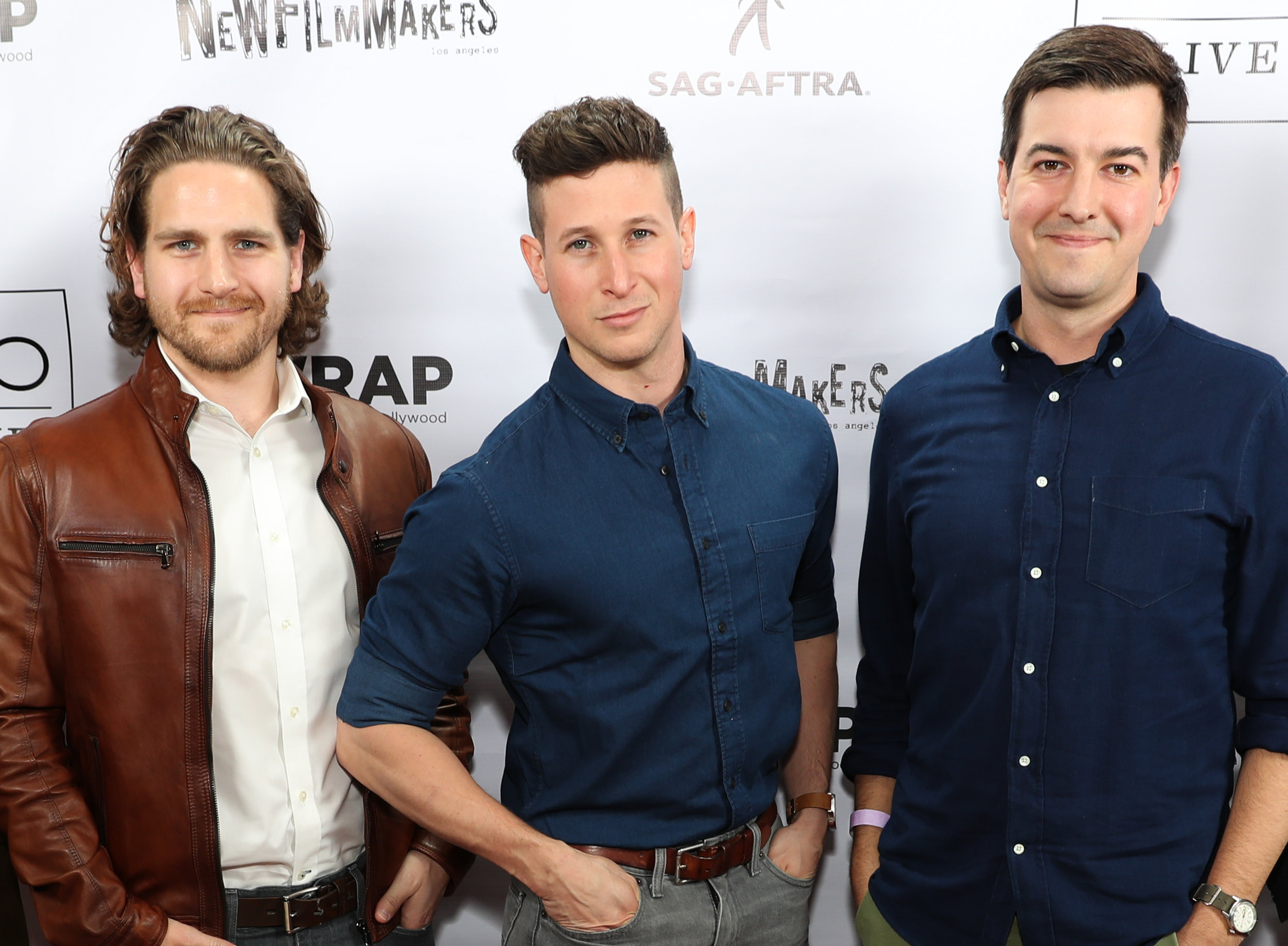 Jeff at the  New Filmmakers LA  premiere of  The Massacre at Black Divide , with actor Morgan West (middle)and director  Steve Makowski (right).
