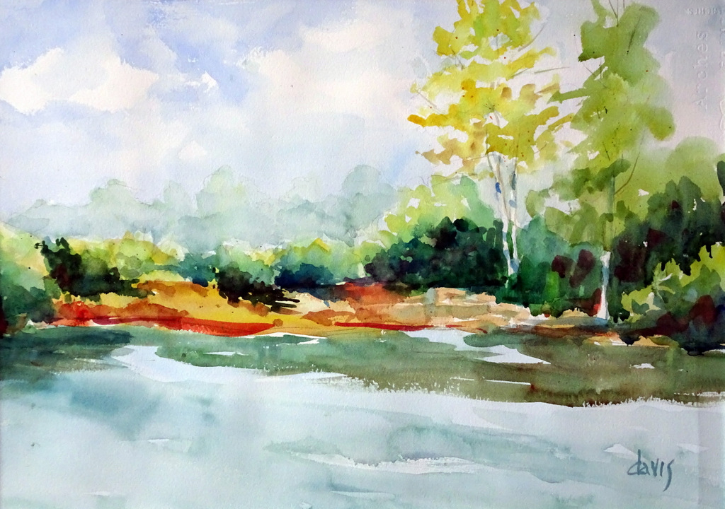The Red House, Fine Art, Black Mountain, Donna Davis, Watercolor-008.JPG