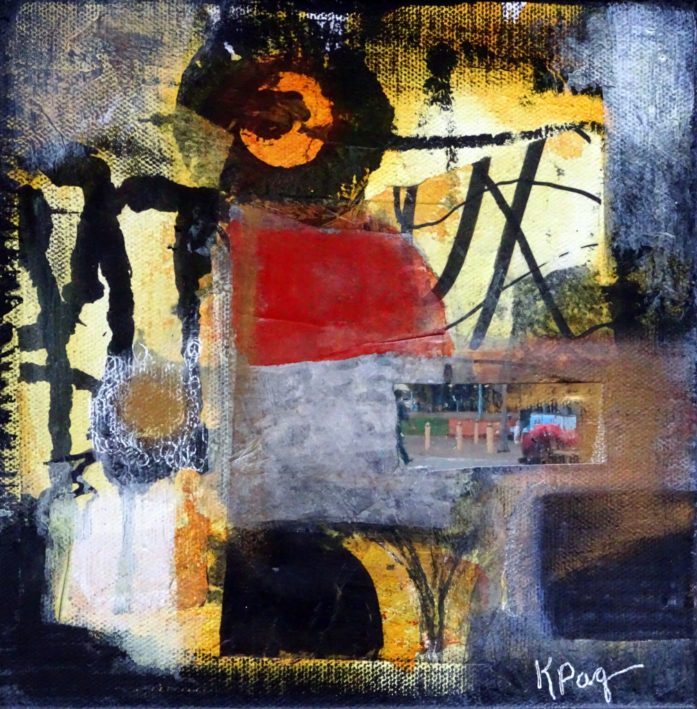 Karen Paquette, Mixed Media Paintings, The Red House, Black Mountain-001.JPG