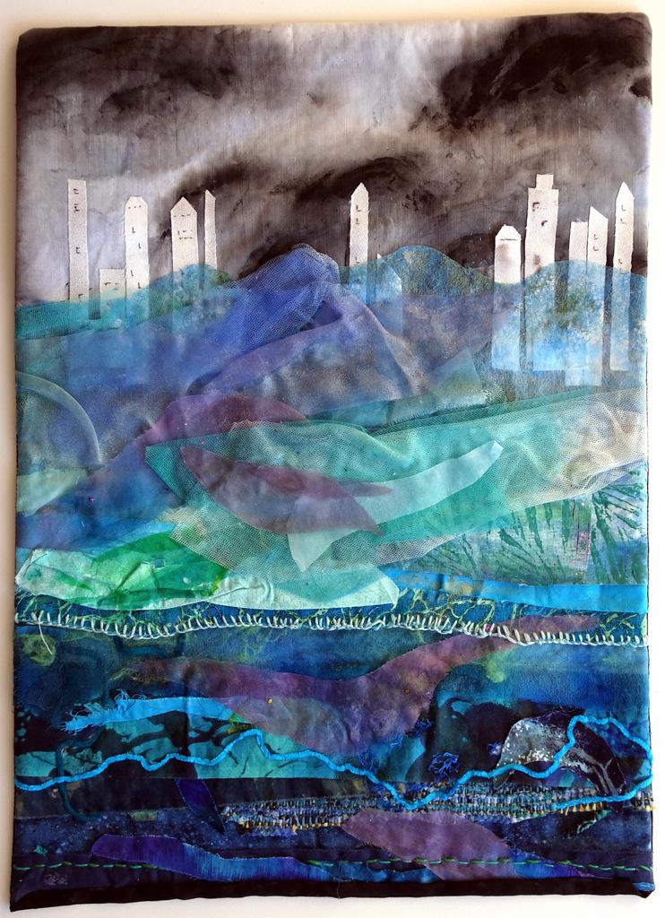 Martha Jane Petersen, Fiber Art, Quilted Art Wall Pieces, The Red House, Black Mountain-003.jpg