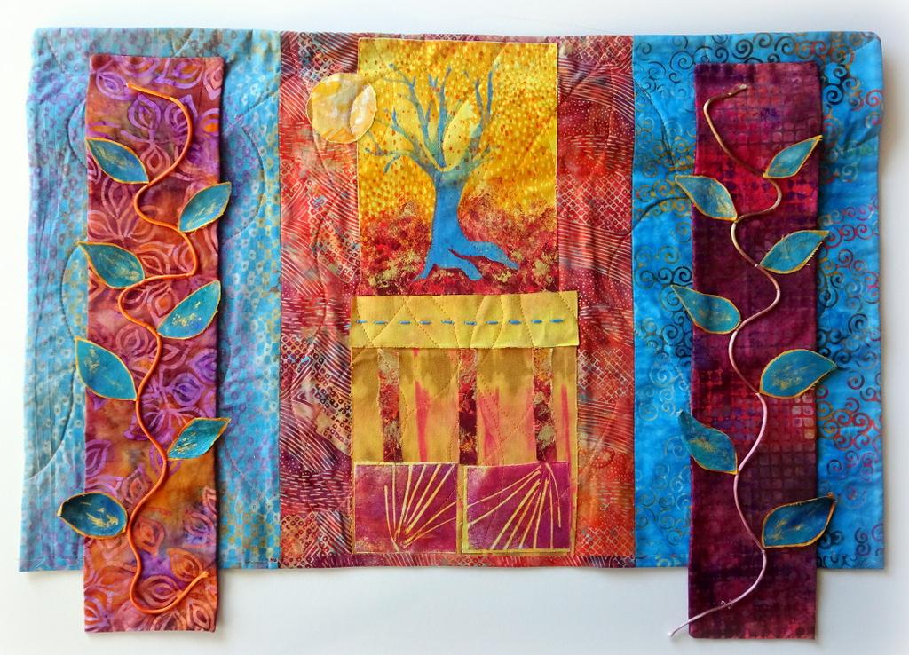 Martha Jane Petersen, Fiber Art, Quilted Art Wall Pieces, The Red House, Black Mountain-017.jpg