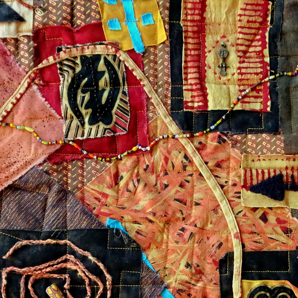 Martha Jane Petersen, Fiber Art, Quilted Art Wall Pieces, The Red House, Black Mountain-021.JPG