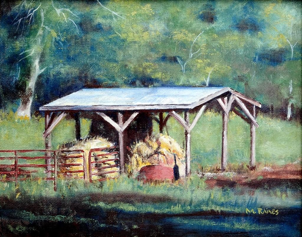 Martha Raines, Oil Painting, Black Mountain, NC-003.JPG